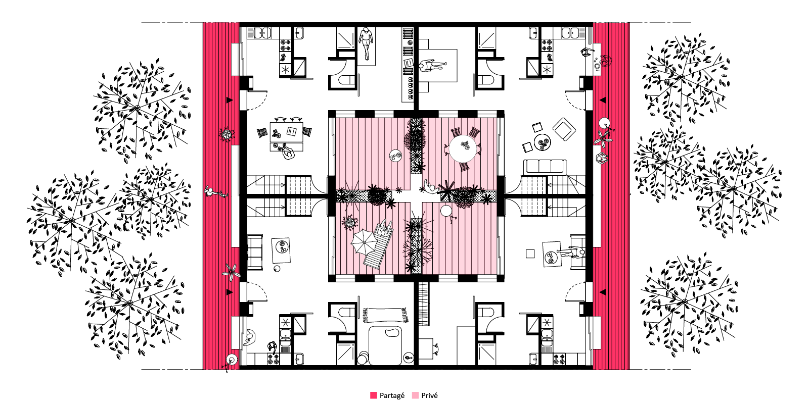 portfolio archive sophie delhay architecte. Black Bedroom Furniture Sets. Home Design Ideas