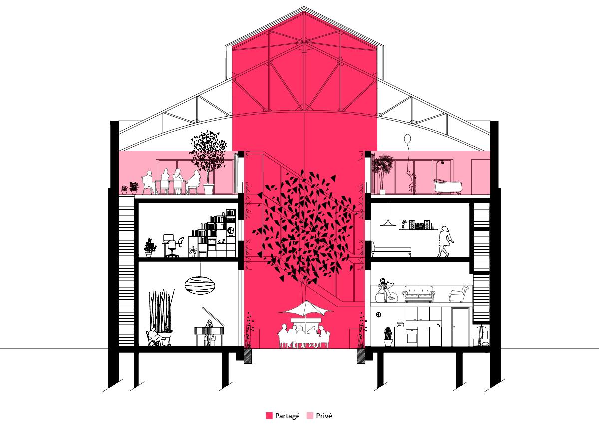 partages sophie delhay architecte. Black Bedroom Furniture Sets. Home Design Ideas