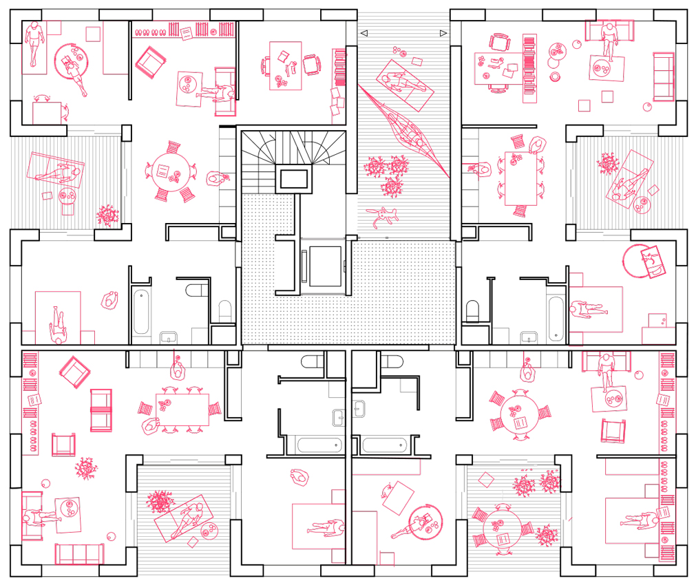 Sophie Delhay lolu_plan-habité_rose-web - sophie delhay architecte